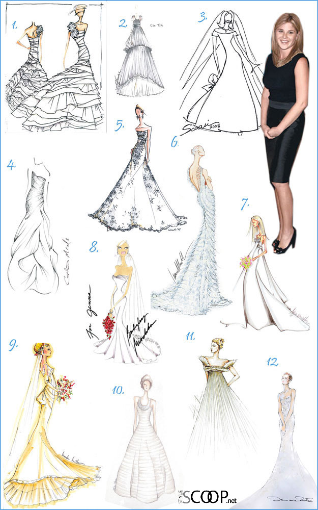 Which wedding gown would you pick for Jenna Bush?