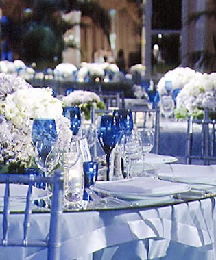 royal blue chocolate silver wedding theme project