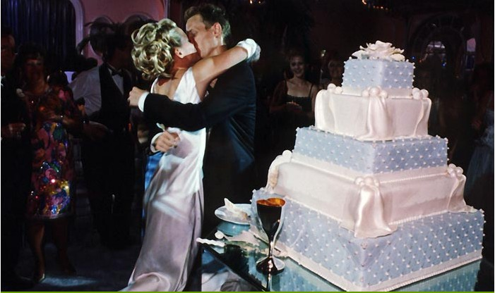 Of  Old Hollywood Glamour  Silver   Navy Blue Wedding. Old Hollywood Wedding Cakes. Home Design Ideas