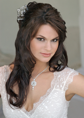 Excellent Bridal Hairstyles Down For Long Hiar With Veil Half Up 2013 For Short Hairstyles Gunalazisus