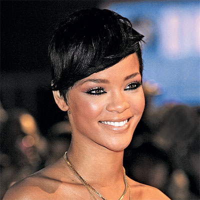 rihanna short hair back view. look for shorter hair