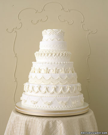 Winter White Wedding Cakes