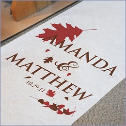 Pretty, Personalized Wedding Aisle Runners