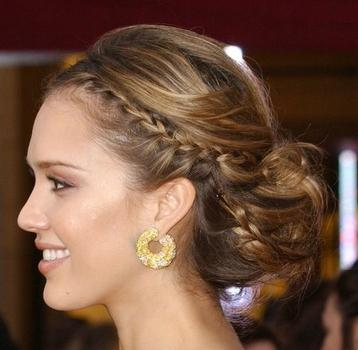 Wedding Hairstyles  Braids on Embellished Braid The Look Of A Braid Without Any Actual