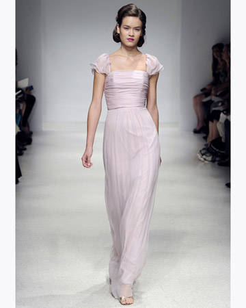 Long Bridesmaid Dress on Long Light Pink Bridesmaid Dress  Amsale Com
