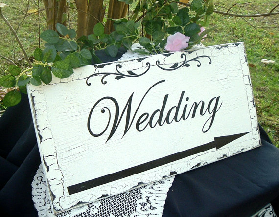 ... :  Hand painted signs direct your guests in the right direction