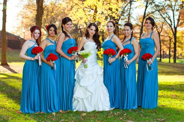 hardly matching bridal party