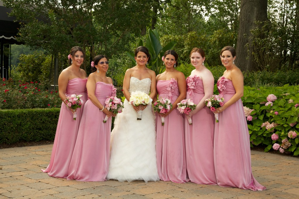 matching bridal party hairdo