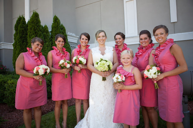 Fuchsia Bridal Party