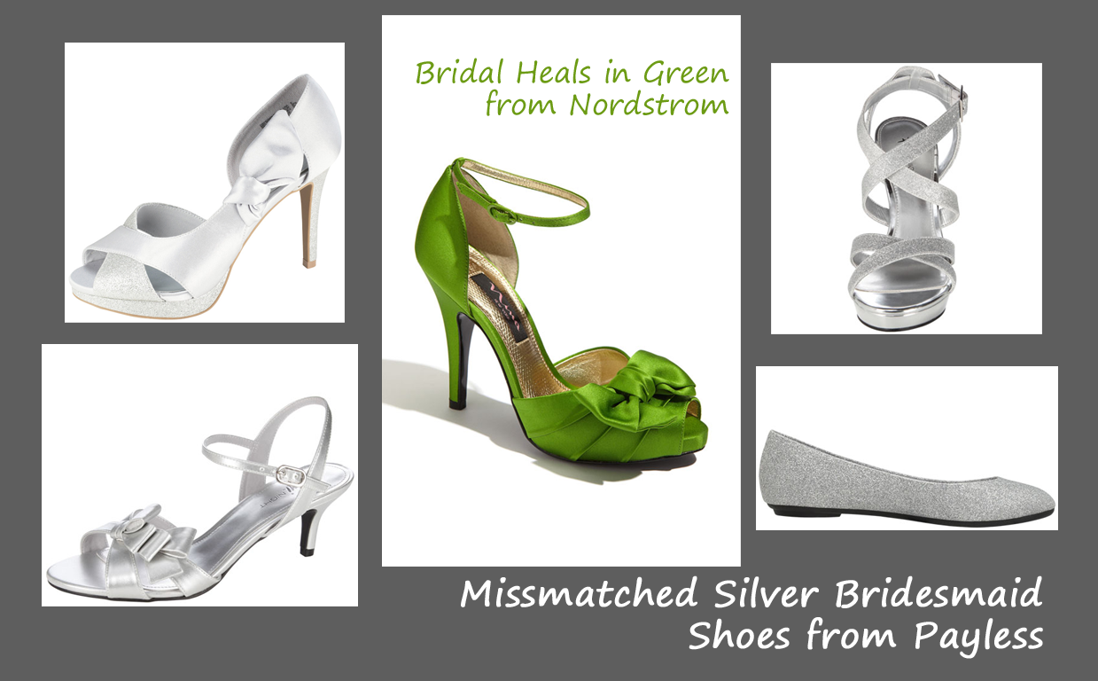shoes  green and silver