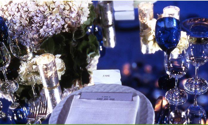 Old Hollywood Glamour: Silver & Navy Blue Wedding